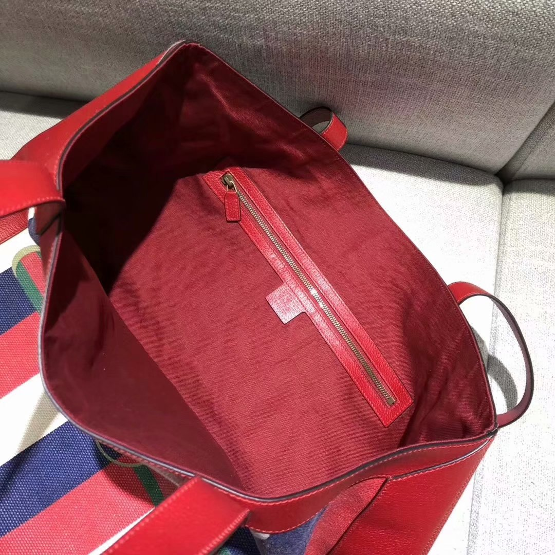 2018 NEW Gucci Ophidia Women Shopping Bag Leather Red