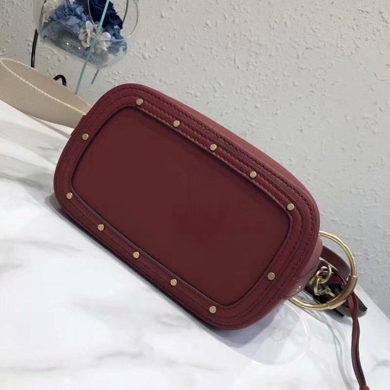 2018 New Chloe Mini Roy Bucket Bag in Smooth Calfskin Plum Purple