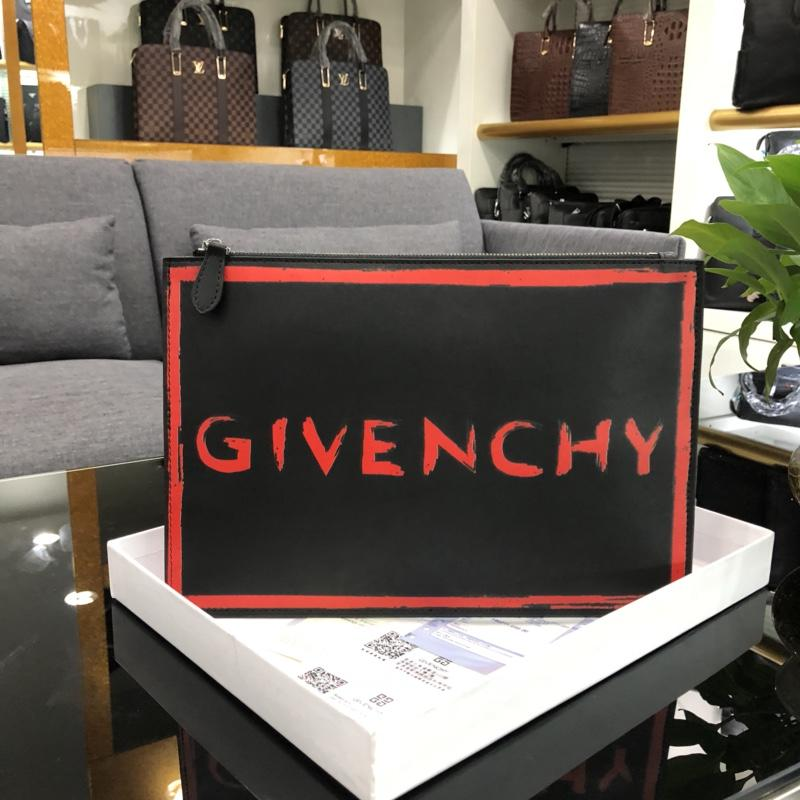 Best Copy Givenchy 0865-1 Leather Men Clutch Bag White
