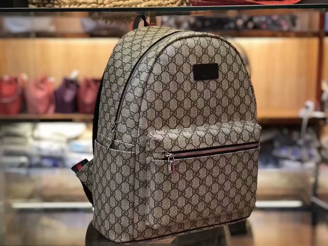 Best Price Gucci 77401 Men Backpack GG Supreme Small Backpack 0941ba5318