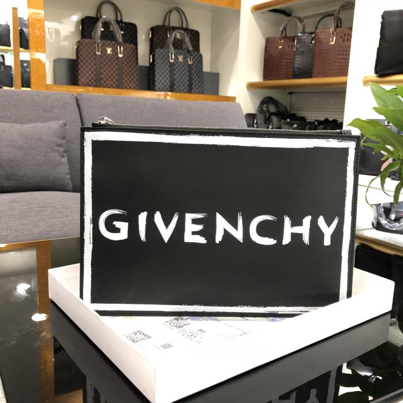 Best Replica Givenchy 0865-1 Leather Men Clutch Bag White