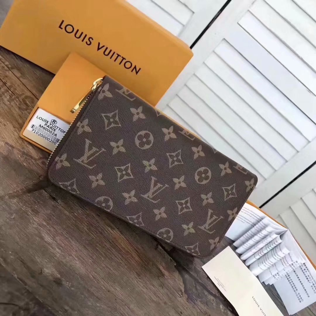 Cheap Louis Vuitton M60002 Zippy Organiser Monogram Men Wallet