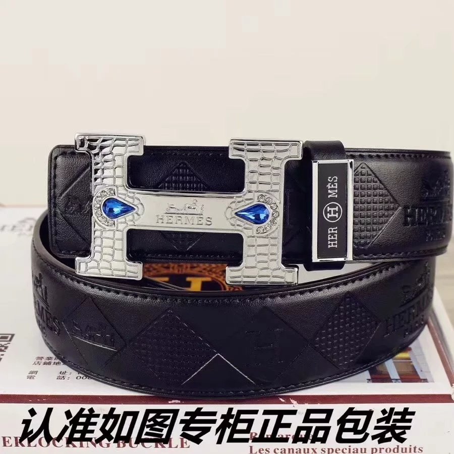Cheap Replica Hermes Reversible Leather Men Belt Width 3.8cm With Silver Buckle 041