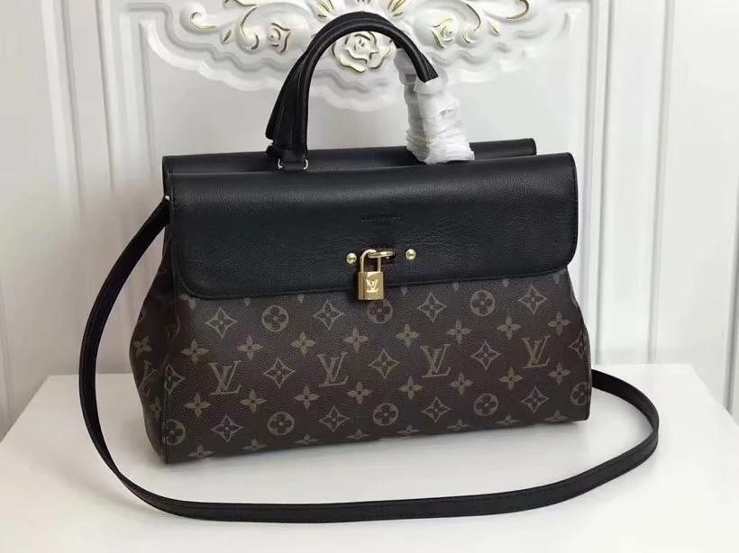 Copy Louis Vuitton M41778 Venus Women Steamer Handbag Monogram Black