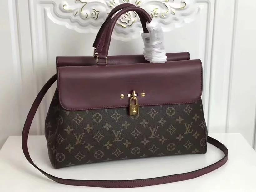 Copy Louis Vuitton M41778 Venus Women Steamer Handbag Monogram Purple
