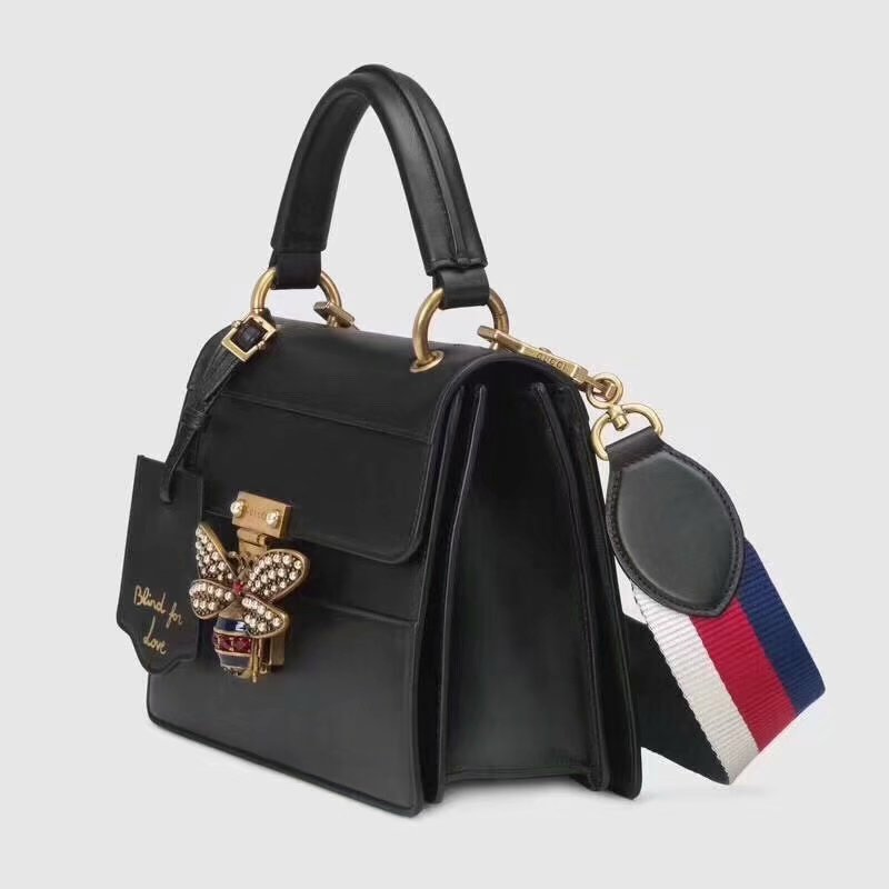 Highest Quality Gucci 476541 Queen Margaret Small Top Handle Bag Black