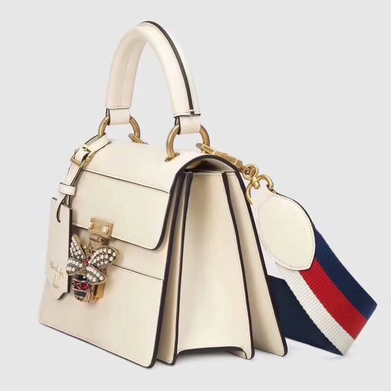 Highest Quality Gucci 476541 Queen Margaret Small Top Handle Bag White