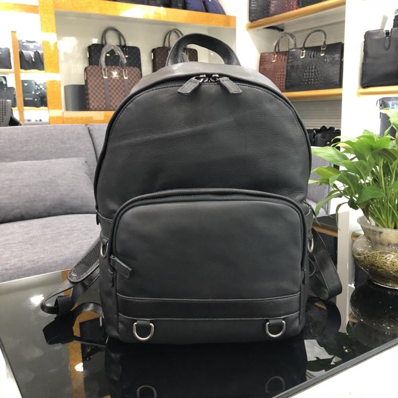 New Arrival Prada 6880 Men Leather Backpack Black