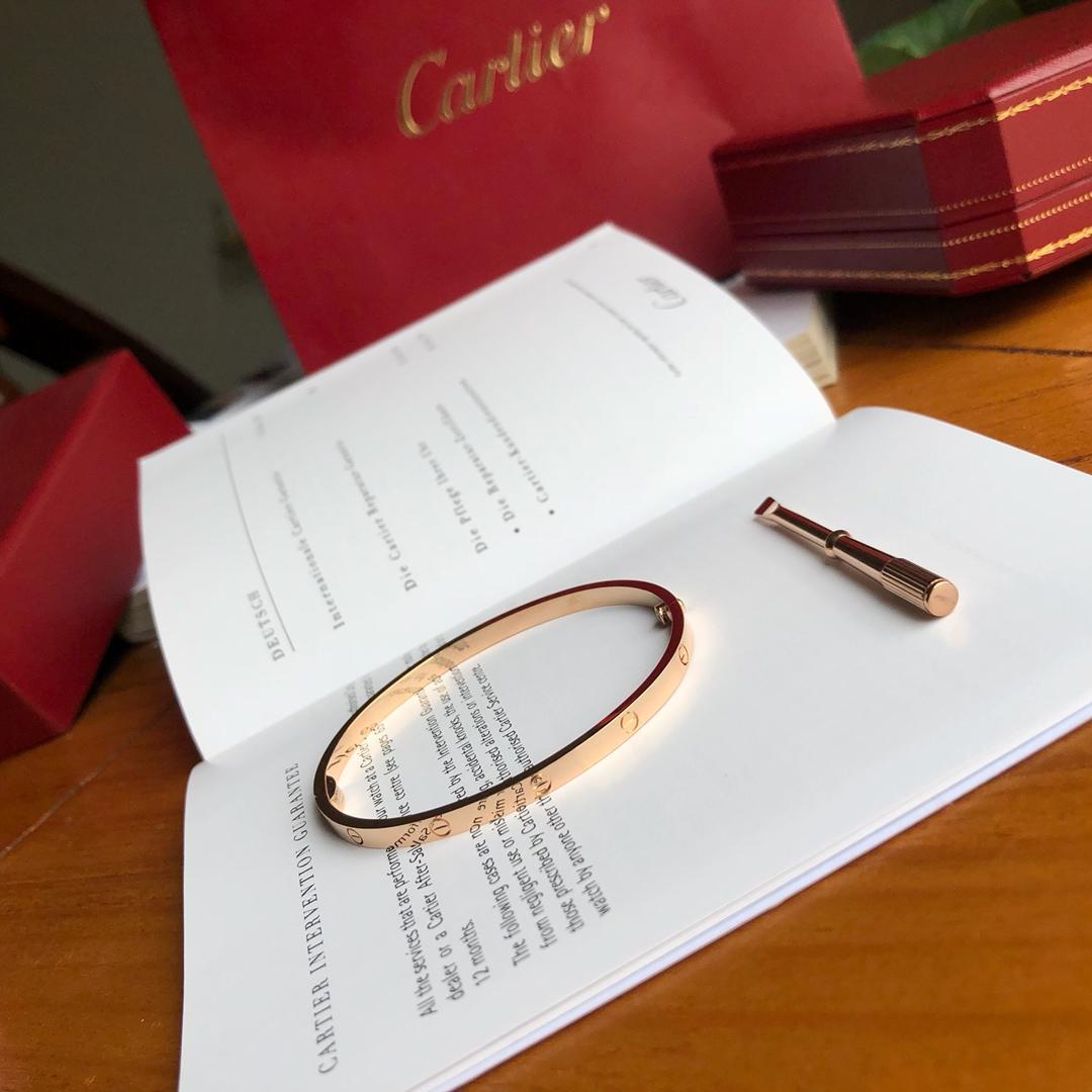 Replcia Cartier SM Bracelet Real 18k Gold 23g Pink Gold