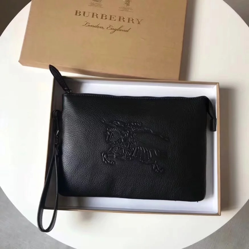 Replica Burberry Men Big Clutch Bag Black