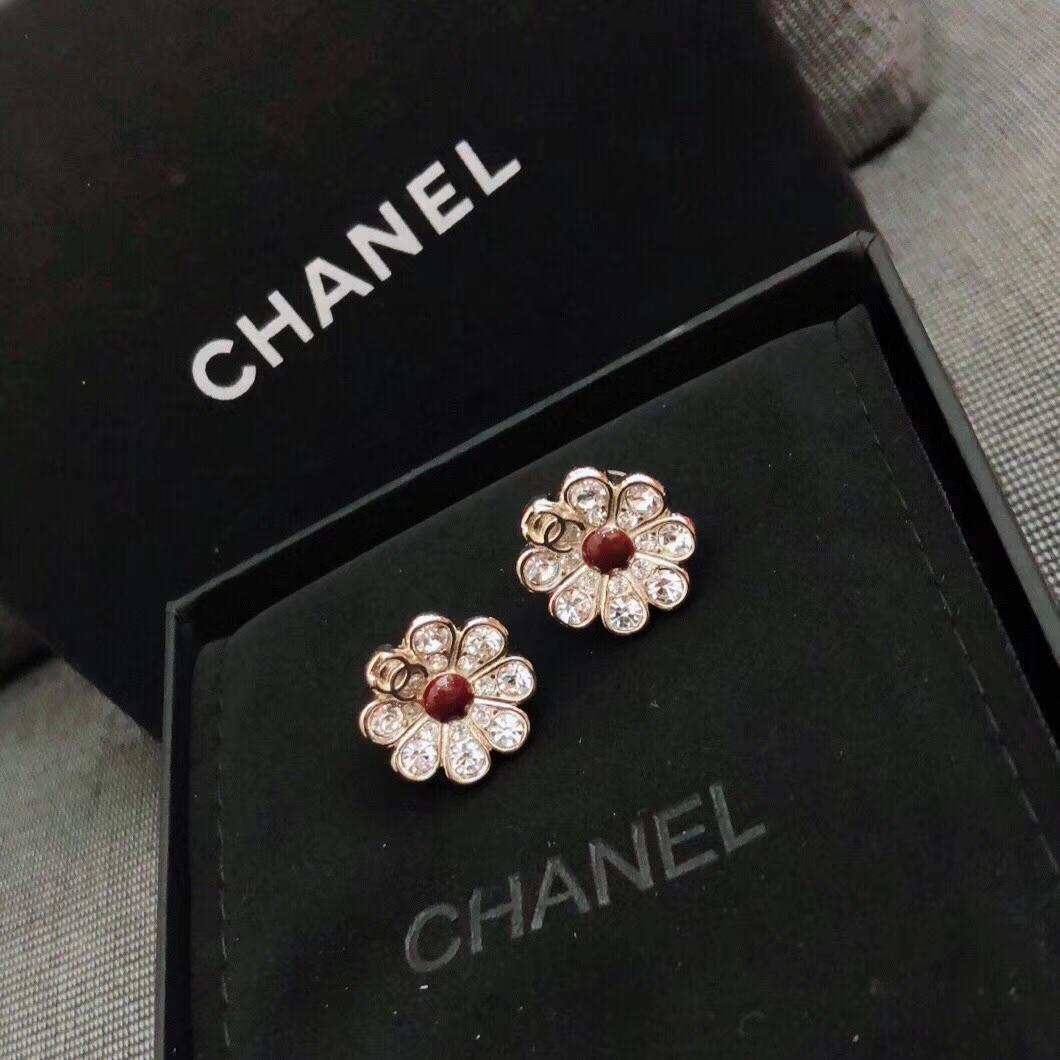 Replica Chanel Flower Gold Earring 001