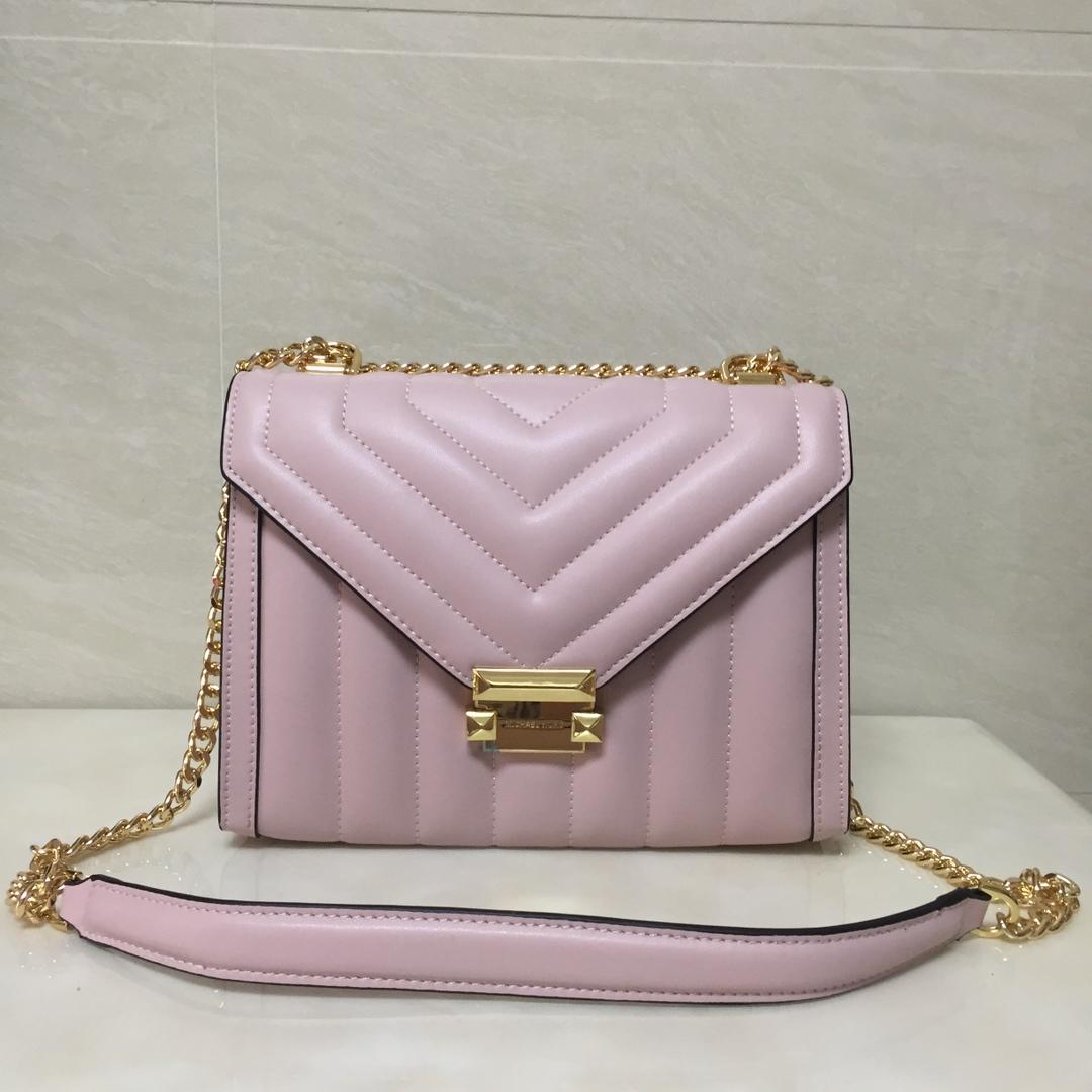 Replica Michael Kors Whitney Large Women Leather Shoulder Bag Pink