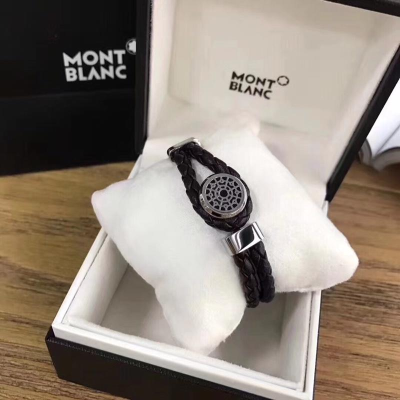 Replica Montblanc Men Leather Bracelet 001
