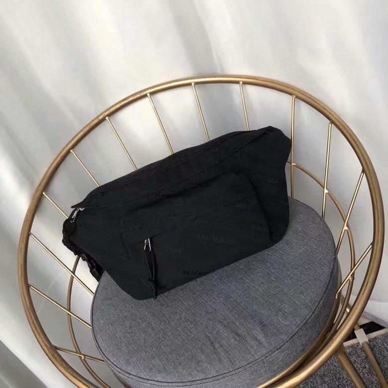 Top Quality Balenciaga Women Wheel Belt Pack Black