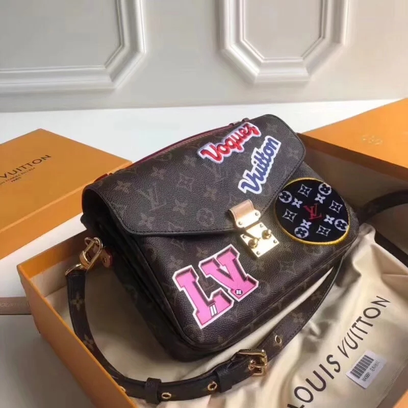 Top Replica Louis Vuitton M43991 Women Pochette Metis Monogram Coated Canvas with Applied and Printed Patches