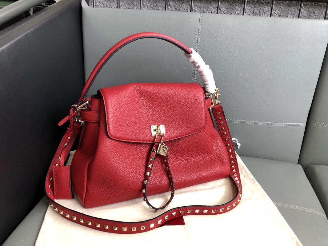 Original Copy Valentino Women Leather Handbag Red