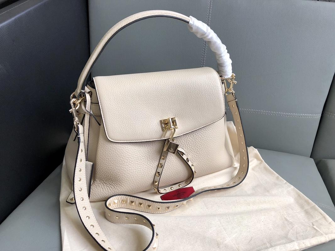 Original Copy Valentino Women Leather Handbag White