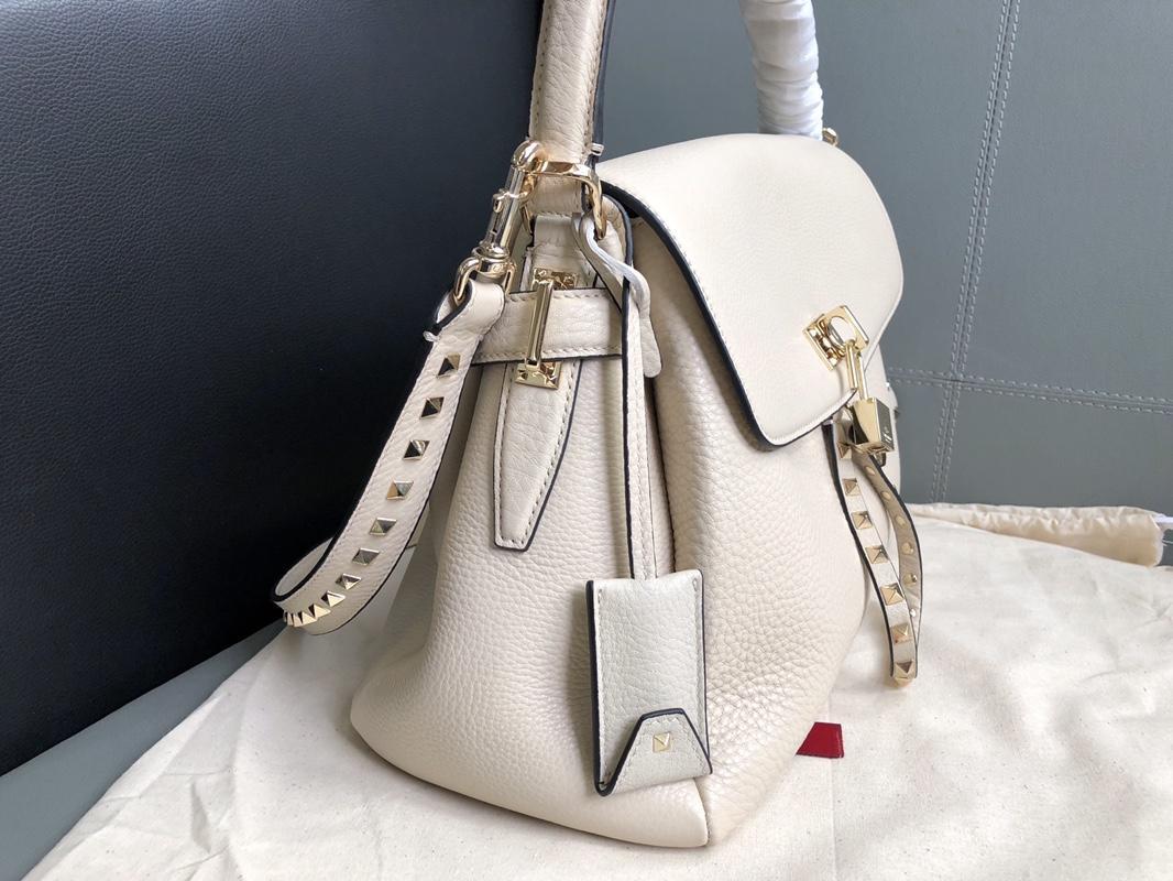 Original Copy Valentino Women Leather Handbag White